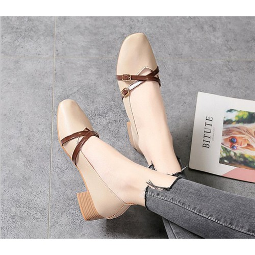 Giày 2 Quai Chéo Cực Đẹp TTS 1