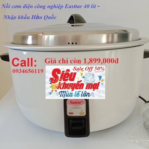 Nồi cơm điện - Nồi cơm điện công nghiệp Easttar 40 lít - Hàng tiêu chuẩn chính hãng Hàn Quốc, siêu bền, đa năng, noi com dien khuyến mãi sốc - 7416508 , 17164292 , 15_17164292 , 2800000 , Noi-com-dien-Noi-com-dien-cong-nghiep-Easttar-40-lit-Hang-tieu-chuan-chinh-hang-Han-Quoc-sieu-ben-da-nang-noi-com-dien-khuyen-mai-soc-15_17164292 , sendo.vn , Nồi cơm điện - Nồi cơm điện công nghiệp Eastta