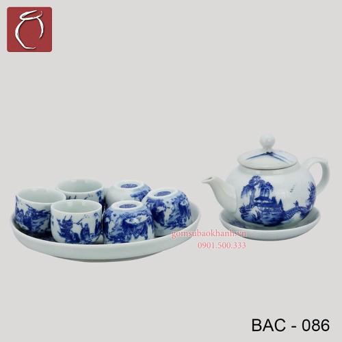 Bộ ấm chén men lam Bưởi Khay vẽ phong cảnh  cao cấp gốm sứ Bảo Khánh Bát Tràng - bộ bình uống trà cao cấp - 4641367 , 17156932 , 15_17156932 , 620000 , Bo-am-chen-men-lam-Buoi-Khay-ve-phong-canh-cao-cap-gom-su-Bao-Khanh-Bat-Trang-bo-binh-uong-tra-cao-cap-15_17156932 , sendo.vn , Bộ ấm chén men lam Bưởi Khay vẽ phong cảnh  cao cấp gốm sứ Bảo Khánh Bát Tràng