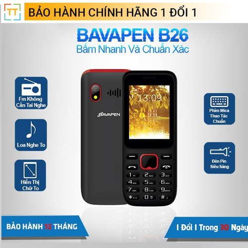 Điện thoại Bavapen B26 Loa to màn hình lớn - Hàng chính hãng - 7461596 , 17181634 , 15_17181634 , 350000 , Dien-thoai-Bavapen-B26-Loa-to-man-hinh-lon-Hang-chinh-hang-15_17181634 , sendo.vn , Điện thoại Bavapen B26 Loa to màn hình lớn - Hàng chính hãng