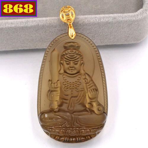 Mặt dây chuyền Phật Bất động minh vương - đá Obsidian 5cm MBNN1 - tuổi Dậu