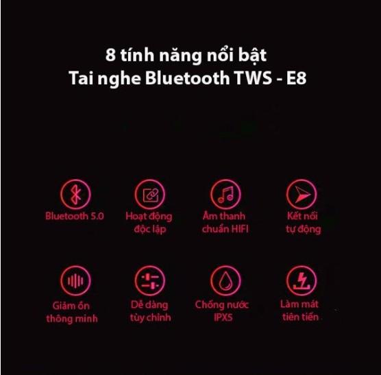 Tai nghe Bluetooth E8 nhét tai hộp đựng tích hợp sạc - Home and Garden - 7