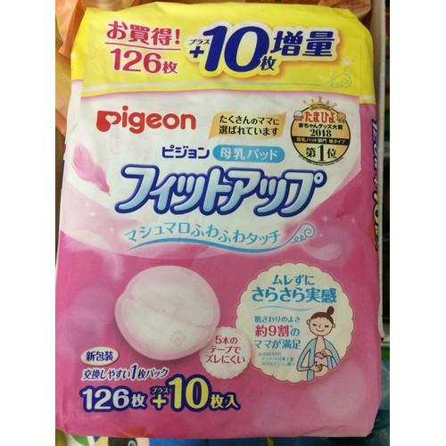 Miếng lót thấm sữa Pigeon Nhật loại 126+10 miếng