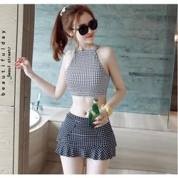 Áo Tắm 2 Mảnh Carô 3D Cực Hot AT019 Mulan Shop