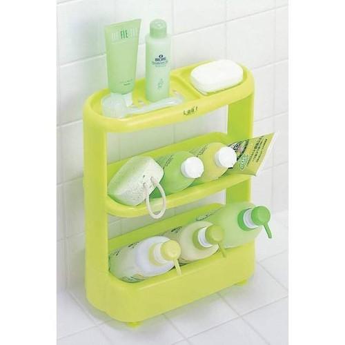 Giá để đồ dùng nhà tắm 3 tầng màu xanh Inomata - 11432529 , 17157411 , 15_17157411 , 210000 , Gia-de-do-dung-nha-tam-3-tang-mau-xanh-Inomata-15_17157411 , sendo.vn , Giá để đồ dùng nhà tắm 3 tầng màu xanh Inomata