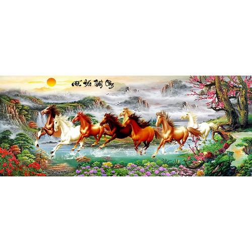 Tranh in canvas VTC Mã Đáo Thành Công UD0131A1 không khung kt 150 x 60 cm