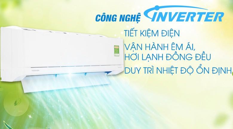 Hi Power - Máy lạnh Toshiba Inverter 1 HP RAS-H10XKCVG-V