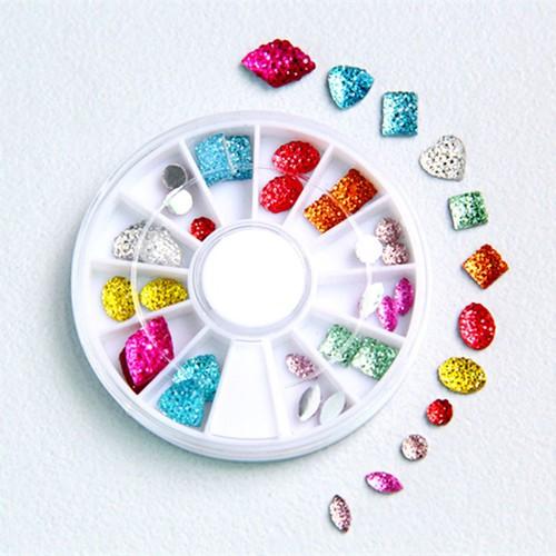 Khay tròn 12 đựng Nails, Trang trí Móng tay Acrylic