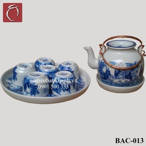 Bộ ấm chén men lam lõm vẽ Trúc Lâm Thất Hiền  cao cấp gốm sứ Bảo Khánh Bát Tràng - bộ bình uống trà cao cấp - 7399530 , 17156698 , 15_17156698 , 750000 , Bo-am-chen-men-lam-lom-ve-Truc-Lam-That-Hien-cao-cap-gom-su-Bao-Khanh-Bat-Trang-bo-binh-uong-tra-cao-cap-15_17156698 , sendo.vn , Bộ ấm chén men lam lõm vẽ Trúc Lâm Thất Hiền  cao cấp gốm sứ Bảo Khánh Bát T
