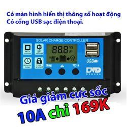 Điều khiển sạc pin mặt trời LCD 10A PWM