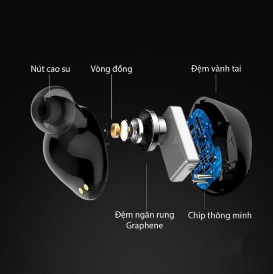 Tai nghe Bluetooth E8 nhét tai hộp đựng tích hợp sạc - Home and Garden - 9