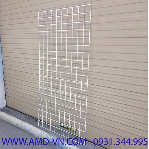 Tấm lưới không khung 0.5x1m sơn tĩnh điện màu Trắng