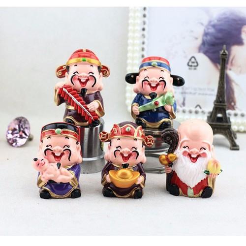 Bộ tượng mini 5 ông Thần Tài Phước Lộc Thọ may mắn