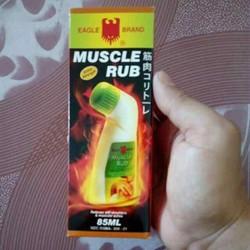 Dầu nóng xoa bóp con ó của Singapo Eagle Brand Muscle Rub chai lăn 85g