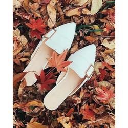 Giày sục nữ mũi nhọn dáng hàn quốc - M05