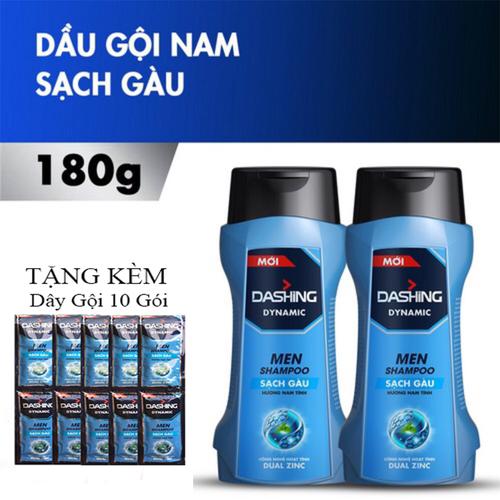 Combo 2 Chai Dầu Gội Sạch Gàu Cho Nam Giới Dashing Dynamic Men Shampoo 180g x2 Tặng kèm dây gội 10 gói - 11433370 , 17177669 , 15_17177669 , 90000 , Combo-2-Chai-Dau-Goi-Sach-Gau-Cho-Nam-Gioi-Dashing-Dynamic-Men-Shampoo-180g-x2-Tang-kem-day-goi-10-goi-15_17177669 , sendo.vn , Combo 2 Chai Dầu Gội Sạch Gàu Cho Nam Giới Dashing Dynamic Men Shampoo 180g x2
