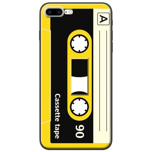 Ốp lưng nhựa dẻo Apple iPhone 7 Plus Cassette vàng