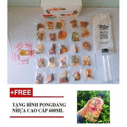 SET VIP - 10 Gói Trà Detox hoa quả sấy khô, DETOX KOREA - Tặng kèm bình nhựa 600ml, hộp, túi vải CÓ ẢNH THẬT