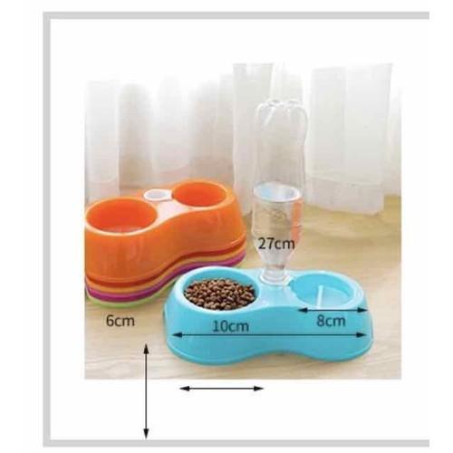Khay nhựa 2 ngăn dành cho chó mèo