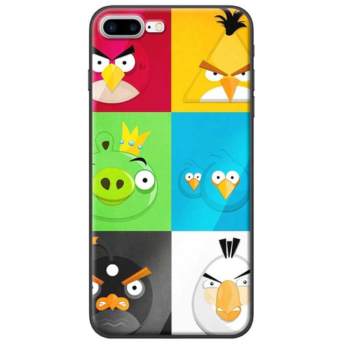 Ốp lưng nhựa dẻo Apple iPhone 7 Plus Angry Birds