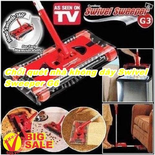 Chổi quét nhà không dây Swivel Sweeper G6 - 4942950 , 17796536 , 15_17796536 , 410000 , Choi-quet-nha-khong-day-Swivel-Sweeper-G6-15_17796536 , sendo.vn , Chổi quét nhà không dây Swivel Sweeper G6