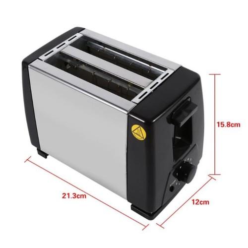 Máy nướng bánh mì 2 ngăn hoạt động đơn giản và hiệu quả thép không rỉ thân thiện với môi trường