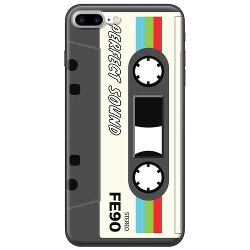 Ốp lưng nhựa dẻo Apple iPhone 7 Plus Cassette Trắng
