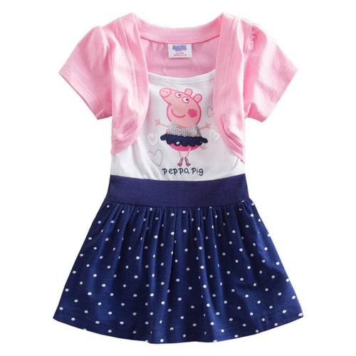 Đầm Trẻ Em Váy Bé Gái Hoạt Hình Peppa Pig 3 màu