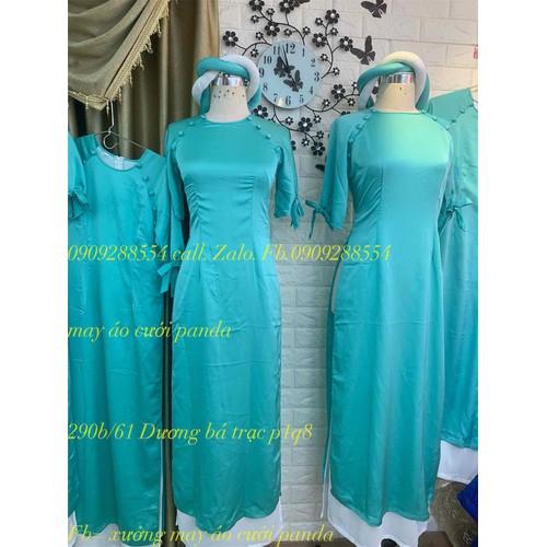 áo dài bê quả bưng mâm bê tráp xanh ngọc kèm mấn đôi 4 tà - 4734235 , 17792776 , 15_17792776 , 420000 , ao-dai-be-qua-bung-mam-be-trap-xanh-ngoc-kem-man-doi-4-ta-15_17792776 , sendo.vn , áo dài bê quả bưng mâm bê tráp xanh ngọc kèm mấn đôi 4 tà