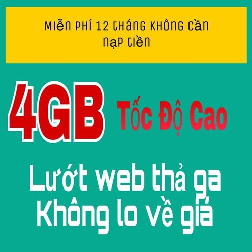 SALE KỊCH SÀN SIM VIETTEL 4G D500 TRỌN GÓI 1 NĂM