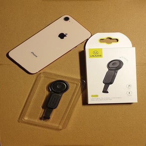 Chân Đỡ Kiêm Sạc Và Tai Nghe Cho Điện Thoại Iphone -Usams chính hãng-