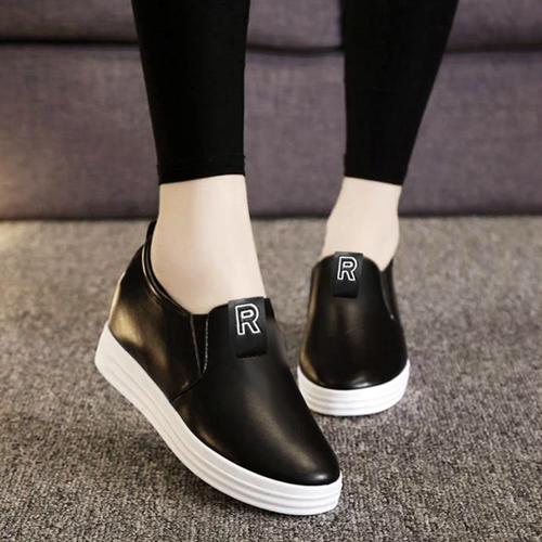 Giày nữ đế độn phối chữ R thời trang - LN1649