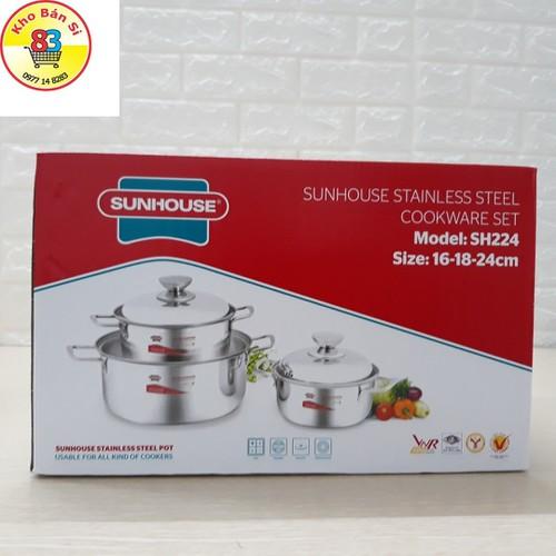 Bộ 3 chiếc nồi inox SUNHOUSE SH224 - 7467491 , 17184151 , 15_17184151 , 299000 , Bo-3-chiec-noi-inox-SUNHOUSE-SH224-15_17184151 , sendo.vn , Bộ 3 chiếc nồi inox SUNHOUSE SH224