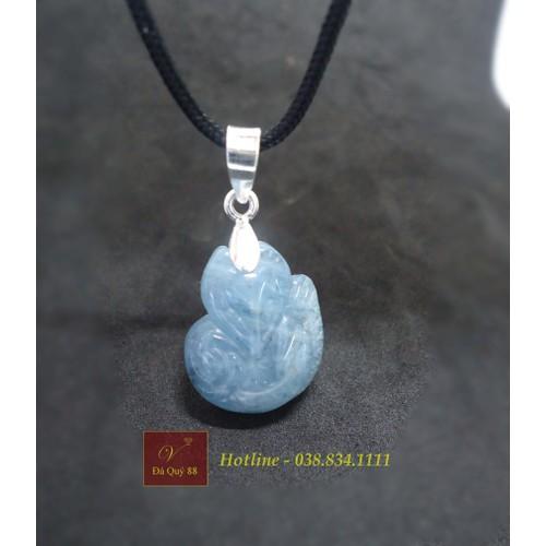 Mặt dây chuyền hồ ly phong thủy đá thạch anh Aquamarine tự nhiên xanh nước biển - 4819951 , 17194723 , 15_17194723 , 900000 , Mat-day-chuyen-ho-ly-phong-thuy-da-thach-anh-Aquamarine-tu-nhien-xanh-nuoc-bien-15_17194723 , sendo.vn , Mặt dây chuyền hồ ly phong thủy đá thạch anh Aquamarine tự nhiên xanh nước biển