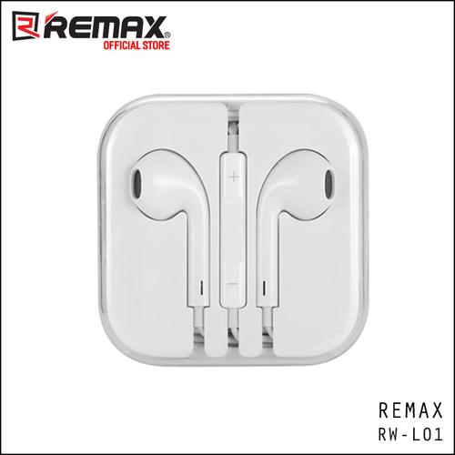 Tai nghe nhét tai cho iPhone Jack 3.5 Remax RW-L01 - TRẮNG