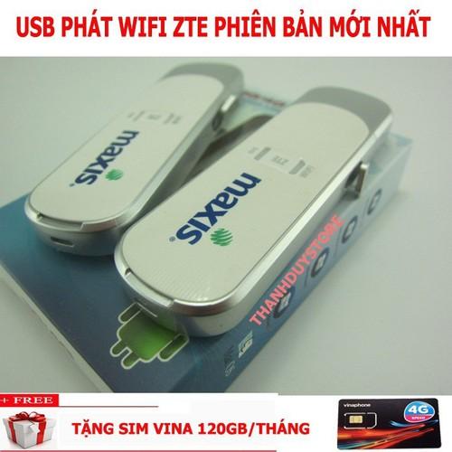 SIÊU KHUYẾN MÃI USB PHÁT WIFI ZTE MF70 TẶNG SIM 4G DATA KHỦNG