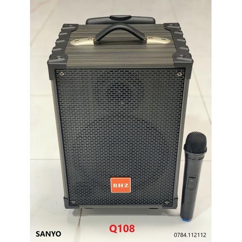 Loa kéo di động SANYO Q108 2 tấc thùng gổ