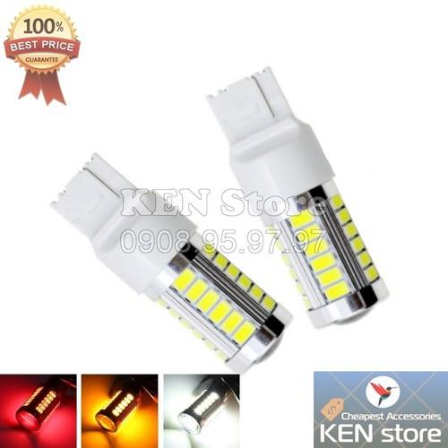 Bóng LED 7440 T20 đèn xi nhan, đèn lùi, đèn thắng, đèn hậu, đèn sương mù 1 TIM cực sáng