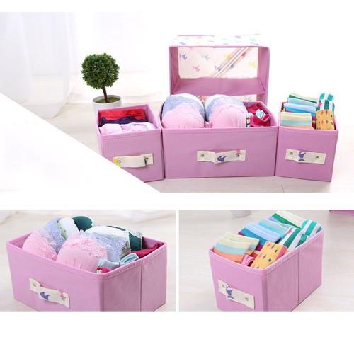 Tủ vải đựng đồ 3 ngăn giúp không gian nhà gọn gàng và ngăn nắp