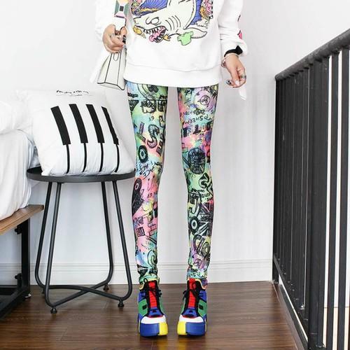 quần legging nữ họa tiết sporty Mã: QB733