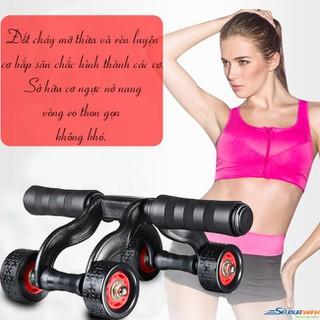 Dung cụ tập thể dục - Con lăn tập cơ bụng 4 bánh - Dung cụ tập thể dục thumbnail