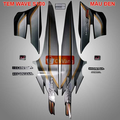 Tem xe máy Wave S100 LOẠI ZIN, TEM XỊN - MÀU ĐEN