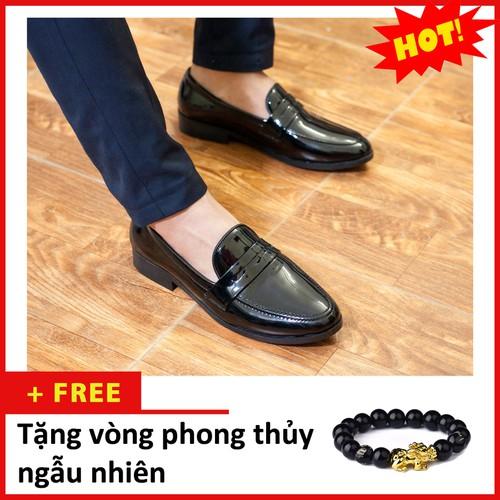 Giày Lười Nam Đẹp Băng Khuyết Da Bóng Rất Sang Trọng - M367-BONG|040419