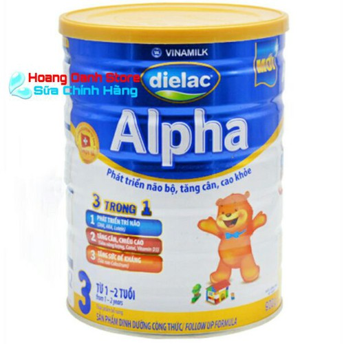 Sữa Bột Vinamilk Dielac Alpha 3 900g