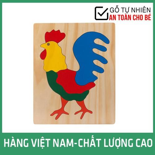 Đồ Chơi Gỗ Tranh Ghép Hình Con Gà Trống Hàng Việt Nam