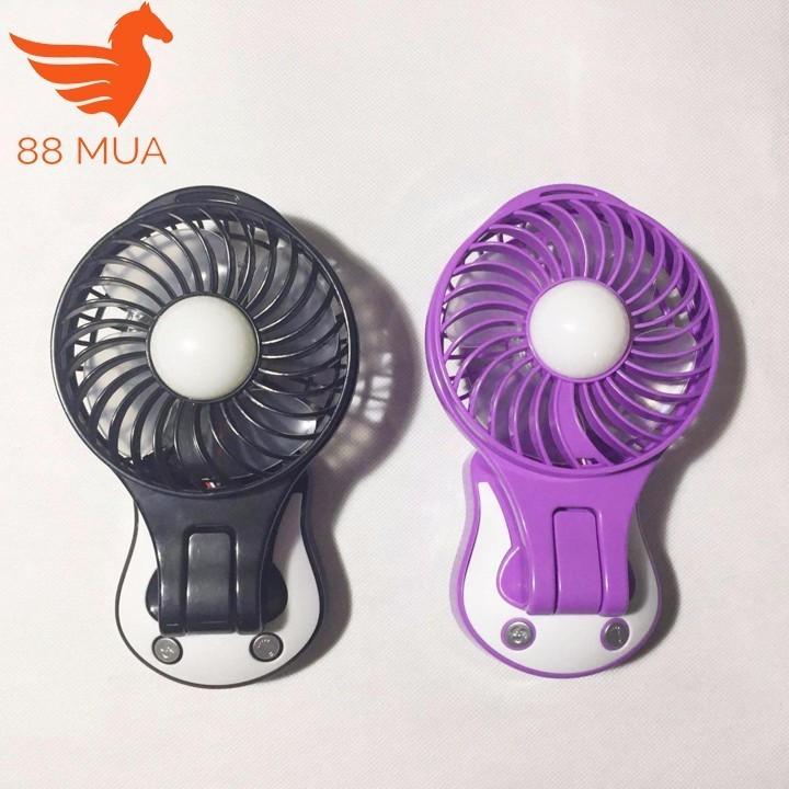 Quạt sạc tích điện mini kèm đèn 2 in 1 YX-102B