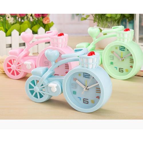 Đồng hồ hình xe đạp trang trí bàng học siêu dễ thương + Pin