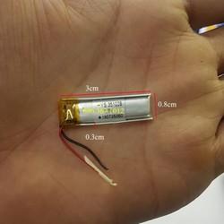 Pin tai nghe bluetooth 3.7 V 75 mAh