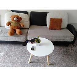 Bàn tròn trắng sofa pk 50