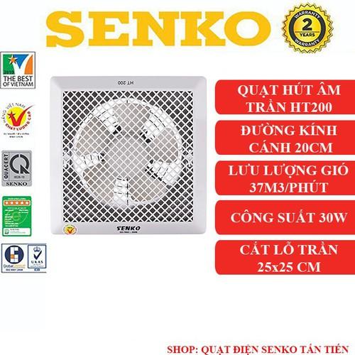 Quạt hút gió âm trần Senko HT200 chính hãng - 7499235 , 17198768 , 15_17198768 , 260000 , Quat-hut-gio-am-tran-Senko-HT200-chinh-hang-15_17198768 , sendo.vn , Quạt hút gió âm trần Senko HT200 chính hãng